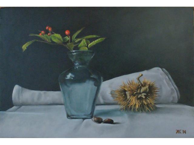 Rode besjes in vaasje - Nick Cillessen - Kunst Extra