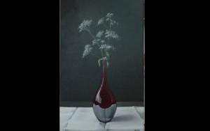 Rode vaas met fluitekruid - Nick Cillessen - Kunst Extra